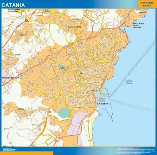 Biggest Map of Catania city in Italy