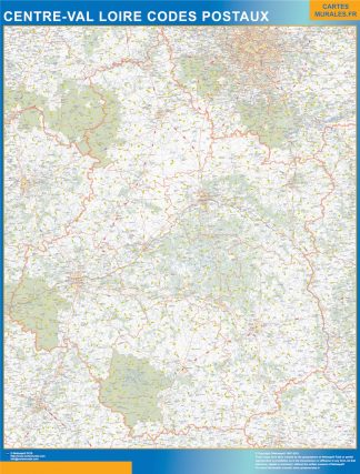 Biggest Map of Centre Val Loire zip codes