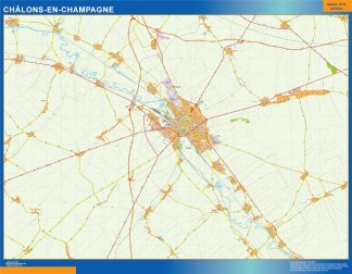 Biggest Map of Chalons En Champagne France