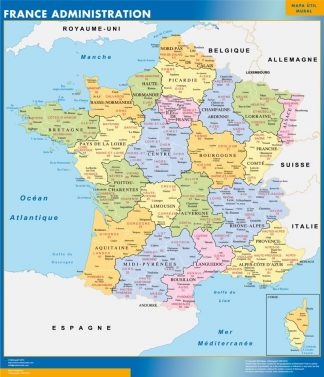 Biggest Map of France departments
