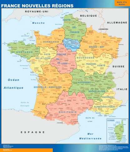 Biggest Map of France new regions