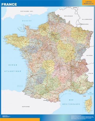 Biggest Map of France political