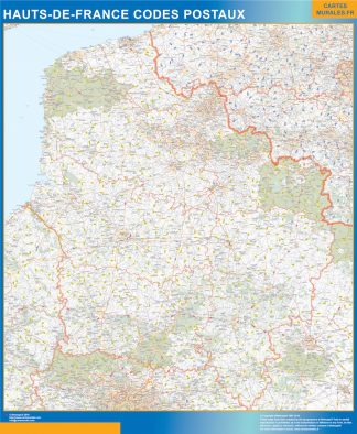 Biggest Map of Hauts de France zip codes