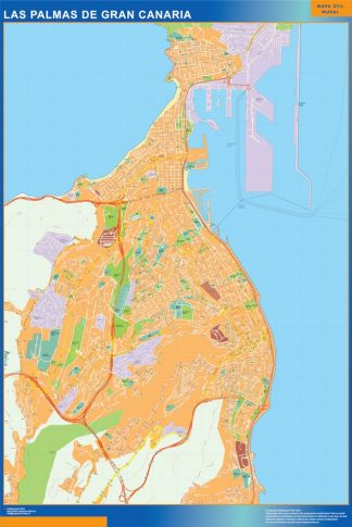 Biggest Map of Las Palmas De Gran Canaria Spain