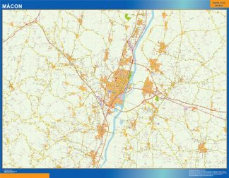 Biggest Map of Macon France