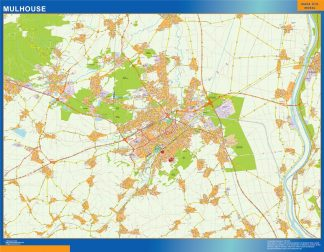 Biggest Map of Mulhouse France