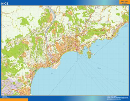 Biggest Map of Nice France