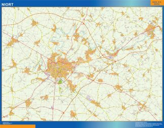 Biggest Map of Niort France