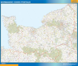 Biggest Map of Normandie zip codes