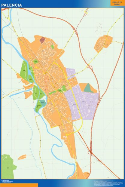 Biggest Map of Palencia Spain
