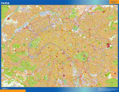 Biggest Map of Paris France