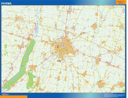 Biggest Map of Parma city in Italy