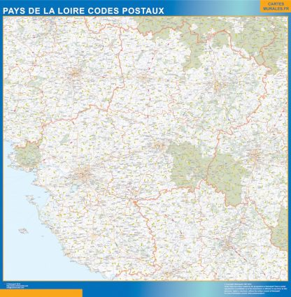 Biggest Map of Pays de la Loire zip codes