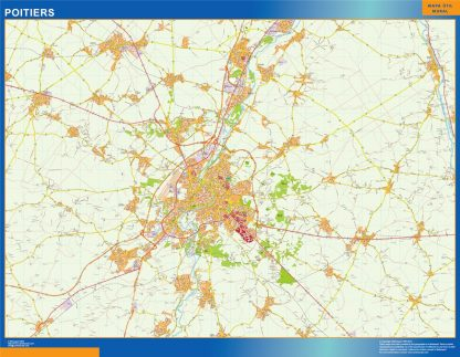 Biggest Map of Poitiers France
