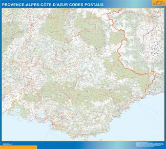 Biggest Map of Provence-alpes cote azur zip codes