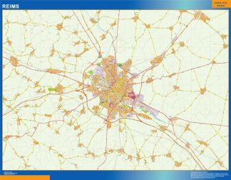 Biggest Map of Reims France
