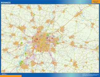 Biggest Map of Rennes France