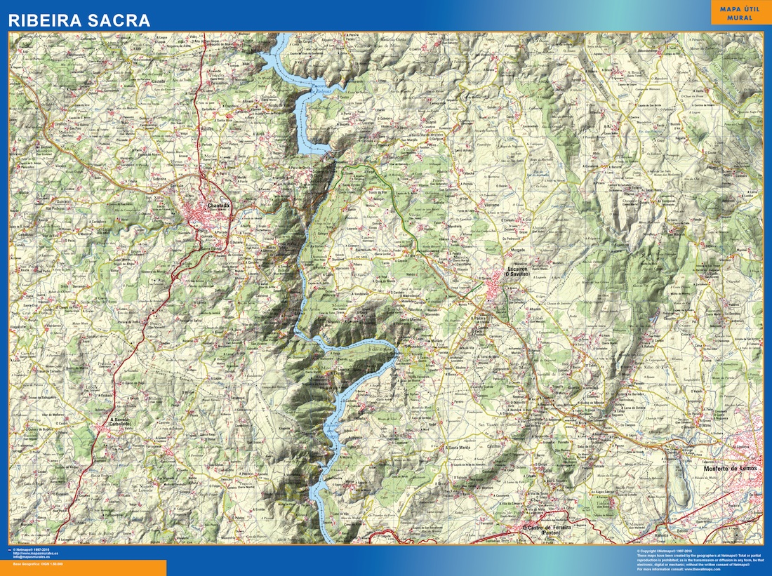 Map Of Ribeira Sacra Wall Maps Of The World Countries For