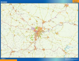 Biggest Map of Rodez France