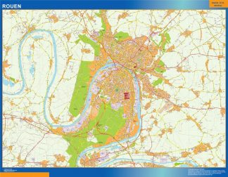 Biggest Map of Rouen France