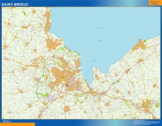 Biggest Map of Saint-brieuc France