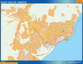 Biggest Map of Santa Cruz Tenerife Spain