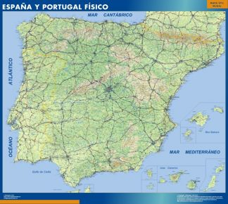 Biggest Map of Spain Fisico