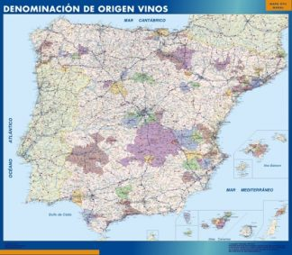 Biggest Map of Spain Wines