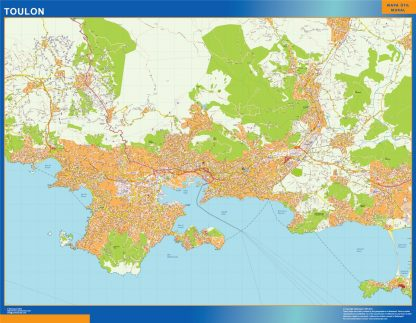Biggest Map of Toulon France