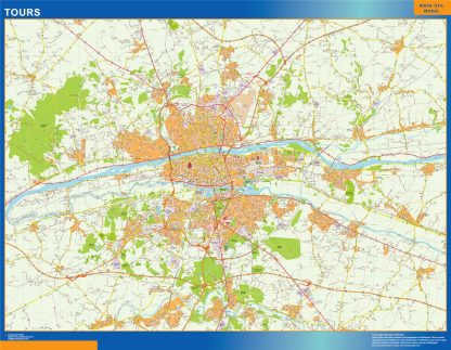 Biggest Map of Tours France