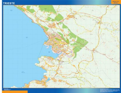 Biggest Map of Trieste city in Italy