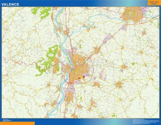 Biggest Map of Valence France