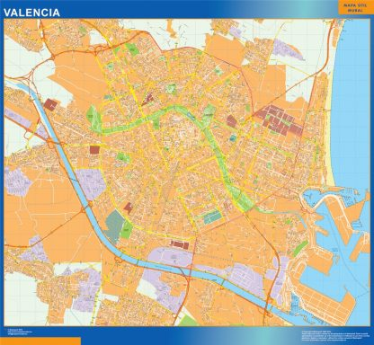 Biggest Map of Valencia Spain