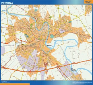 Biggest Map of Verona city in Italy