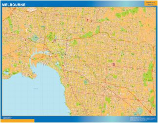Biggest Melbourne laminated map