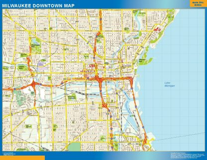 Biggest Milwaukee downtown map