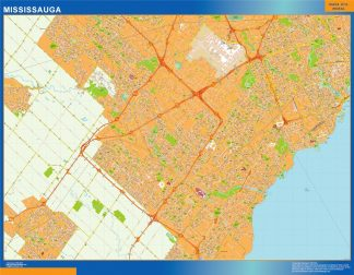 Biggest Mississauga wall map