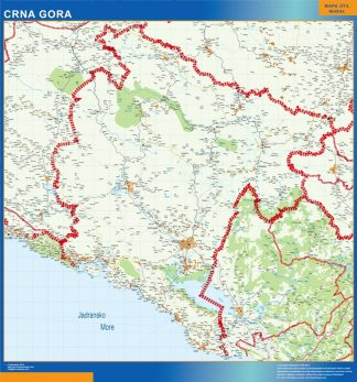 Biggest Montenegro map