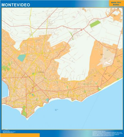 Biggest Montevideo wall map