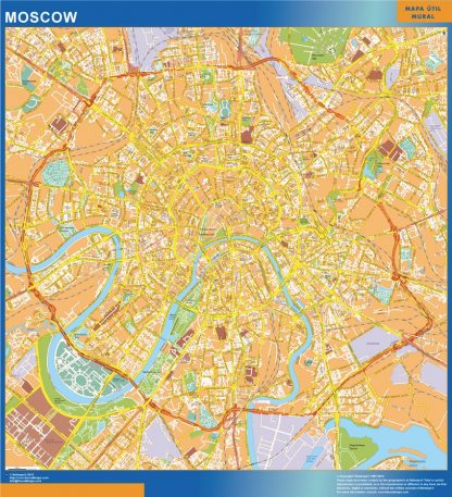 Biggest Moscow wall map