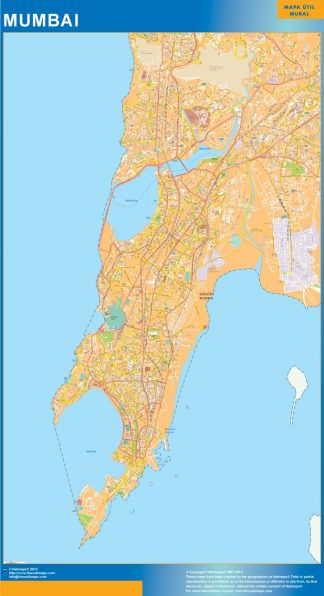 Biggest Mumbai laminated map