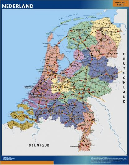 Biggest Netherlands map