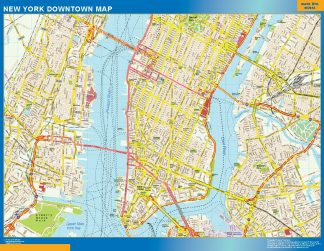 Biggest New York downtown map