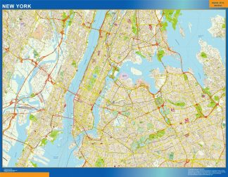 Biggest New York wall map