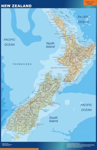 Biggest New Zealand map