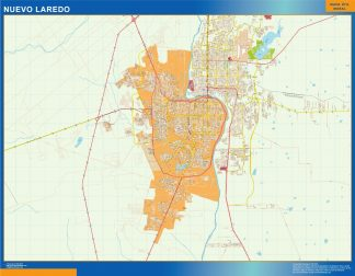 Biggest Nuevo Laredo map Mexico