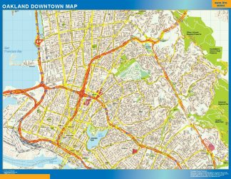 Biggest Oakland downtown map