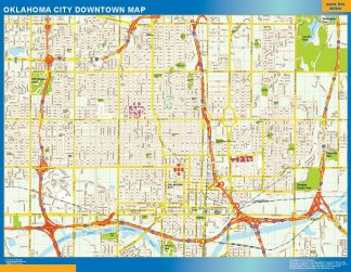 Biggest Oklahoma City downtown map