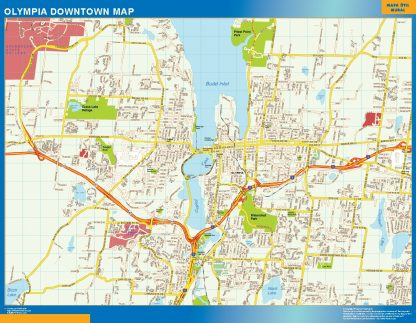 Biggest Olympia downtown map