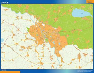 Biggest Opole map Poland